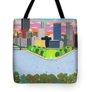 West End Overlook Tote Bag by John Wiegand