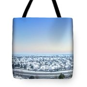 Western Lake In The Hills Tote Bag