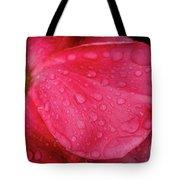 Wet Rose Petal Tote Bag