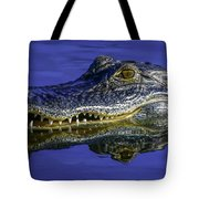 Wetlands Gator Close-up Tote Bag by Tom Claud