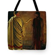 What Is Truth Christ And Pilate Tote Bag