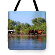 What's Egret Hunting Tote Bag