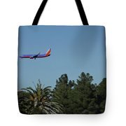 Wheels Down Tote Bag