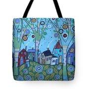 Whimsy Viilage Tote Bag