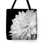 White Dahlia Tote Bag