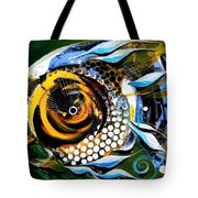 White Headed Mouth Fish Tote Bag