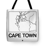 White Map Of Cape Town Tote Bag