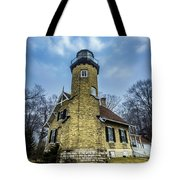White River Lighthouse Tote Bag