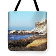 The White Rocks Of Piedras Blancas Tote Bag by Art Block Collections