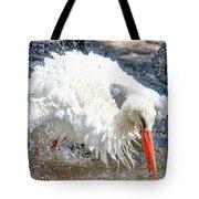 White Stork Fishing Tote Bag