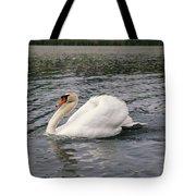 White Swan On Lake Tote Bag
