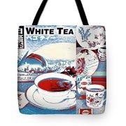 White Tea In Blue And White Tote Bag