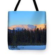 Whitehorse Winter Sunset Tote Bag