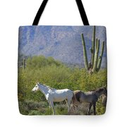 Wild Horses Tonto National Forest Tote Bag