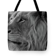 Wild Lion Face Tote Bag