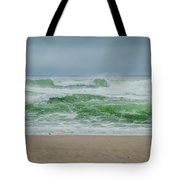 Wild Waves Tote Bag by Judy Hall-Folde