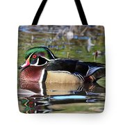 Wild Wood Duck On The Old Mill Pond  Tote Bag