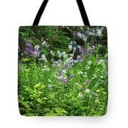 Wildflowers On Green's Hills Tote Bag
