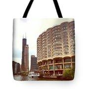 Willis Tower To The Left Tote Bag by Lorraine Devon Wilke