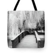 Willow Tree Over The Bridge Tote Bag