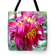 Wilted Dahlia. Tote Bag