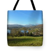 Windermere With Loughrigg Fell And The Langdales From Ambleside Tote Bag