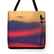 Windmill At Sunset 07 Tote Bag by Rob Graham