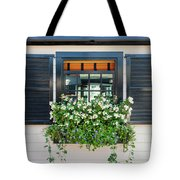 Window Full Of Flowers Tote Bag