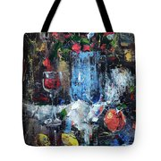 Wine And Fruits Tote Bag