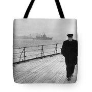Winston Churchill At Sea Tote Bag