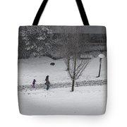Winter Footprint No. 6 Tote Bag by Juan Contreras