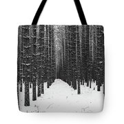 Winter Forest In Black And White Tote Bag