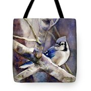 Winter Jay Tote Bag