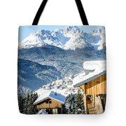 Winter Landscape On The Italian Dolomites Tote Bag