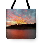 Winter Morning Sky Tote Bag