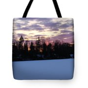 Winter Sunsets Tote Bag