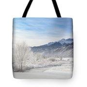 Winter Wonderland Below Whitehouse Mountain Tote Bag