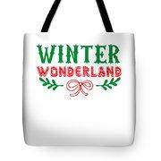 Winter Wonderland Christmas Secret Santa Snowing On Christmas Tote Bag