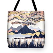 Winter's Sky Tote Bag