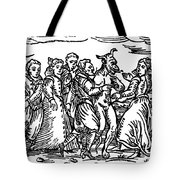 Witches Dancing With The Devil, Illustration From Compendium Maleficarum Tote Bag