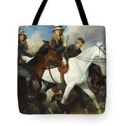With The York And Ainsty, The Children Of Mr Edward Lycett Green Tote Bag