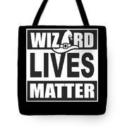 Wizard Lives Matter Retro Halloween Sorcerer Dark Tote Bag