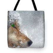 Wolf In The Snowstorm - Painting Tote Bag