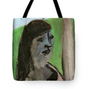 Woman By A Tree Tote Bag