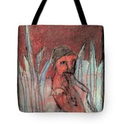 Woman In Reeds Tote Bag