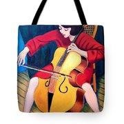 Woman Playing Cello - Bereny Robert Study Tote Bag