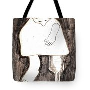 Woman With A Wooden Leg Drawing Tote Bag