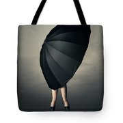 Woman With Huge Umbrella Tote Bag