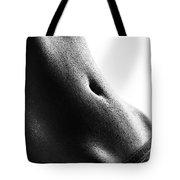Woman's Abdomen Full Of Sweat Tote Bag