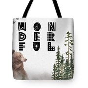 Wonderful Inspirational Poster Tote Bag by Celestial Images